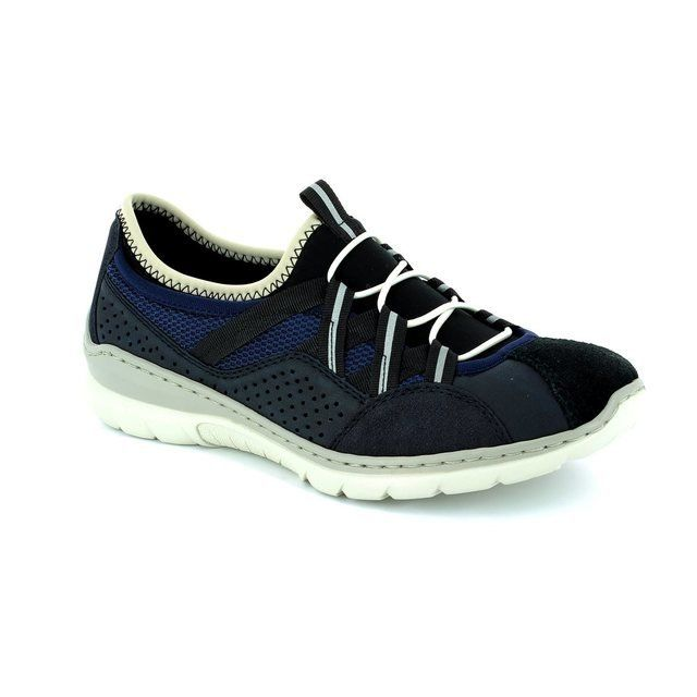 Rieker Trainers & Canvas - Navy - L3256-14 MEMO