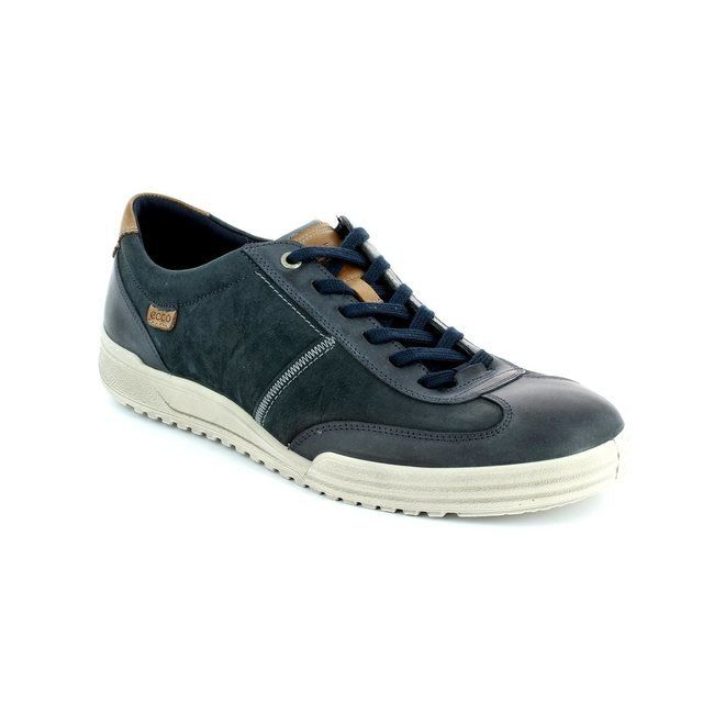 ECCO Fraser 61 539534-53579 Navy/tan casual shoes