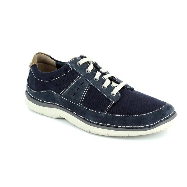 Clarks Trainers & Canvas - Navy - 1599/77G RIPTON PLAIN