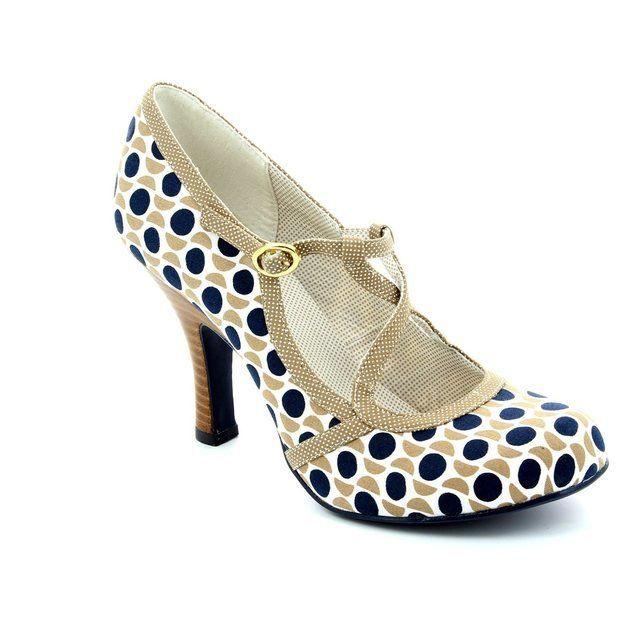 Ruby Shoo Heeled Shoes - Taupe multi - 08906/22 EDIE