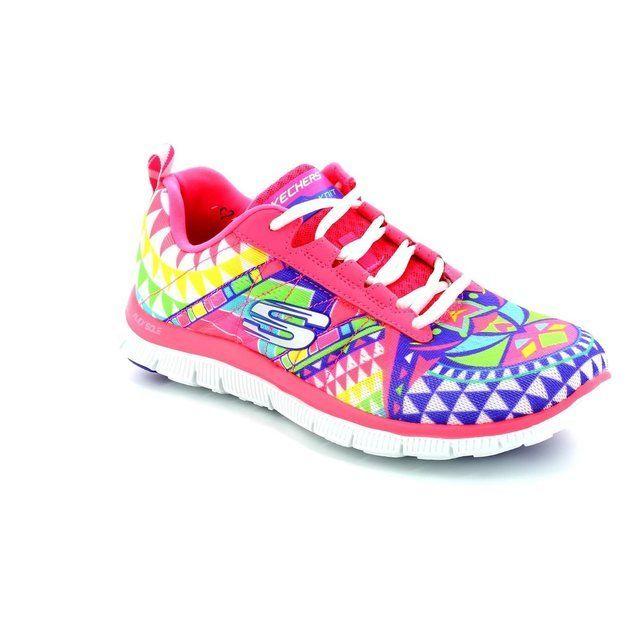 Skechers Trainers & Canvas - Pink - 12449/60 FLEX APPEAL