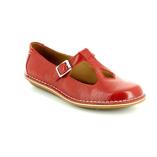 Clarks Tustin Talent D Fit Red comfort shoes