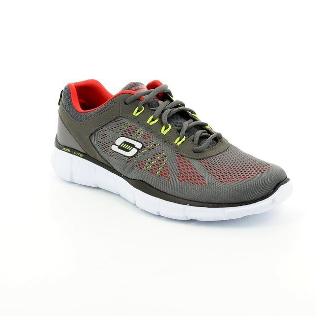 Skechers Deal Maker 51358 CCRD Grey-Red trainers