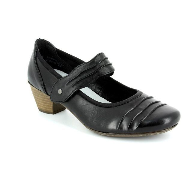 Rieker 41733-00 Black heeled shoes