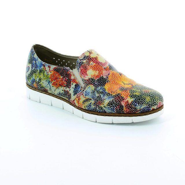 Rieker M1356-90 Floral print comfort shoes