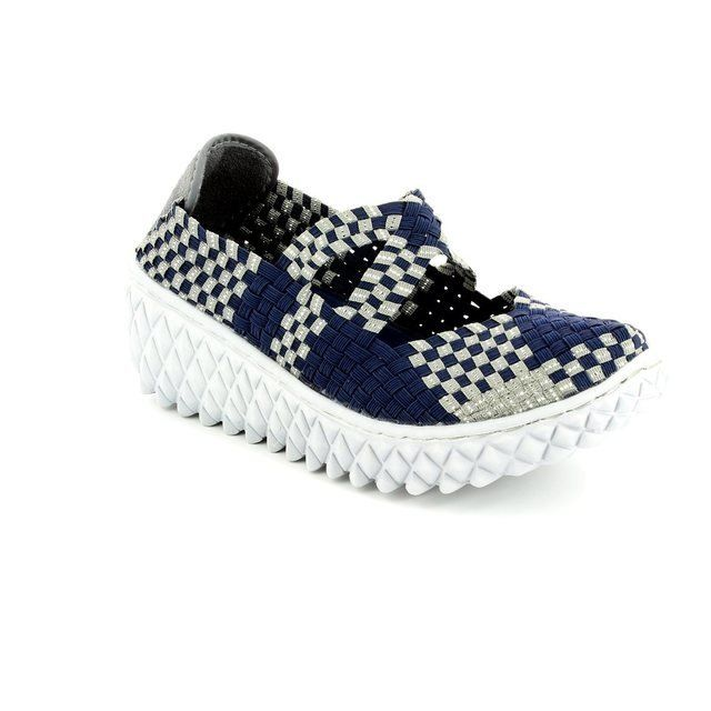 Adesso Trainers & Canvas - Navy multi - A3248/70 LIZZIE