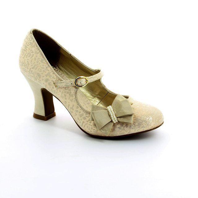 Ruby Shoo Celia 08891-75 Gold high-heeled shoes
