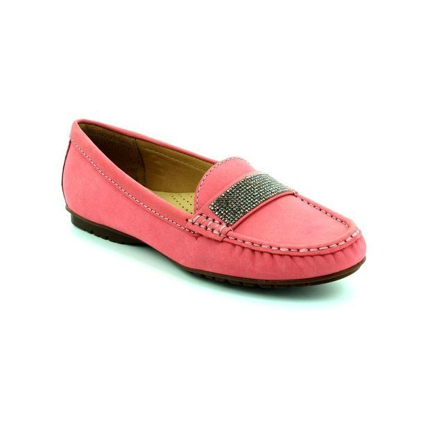 Ambition Antonia 25693-36 Fuchsia Nubuck loafers