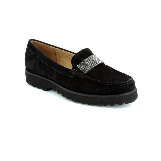 Ambition Loafer / Mocassin - Black nubuck - 16616/30 PORKUR