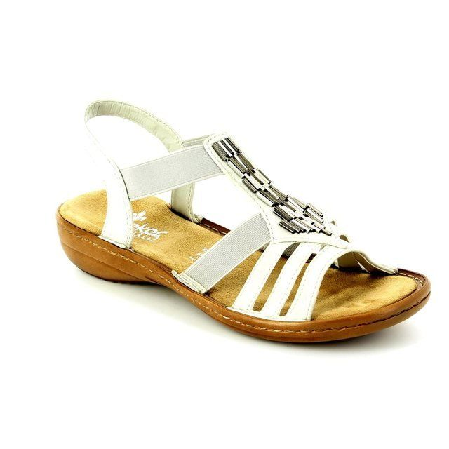 Rieker 60800-80 Off white sandals