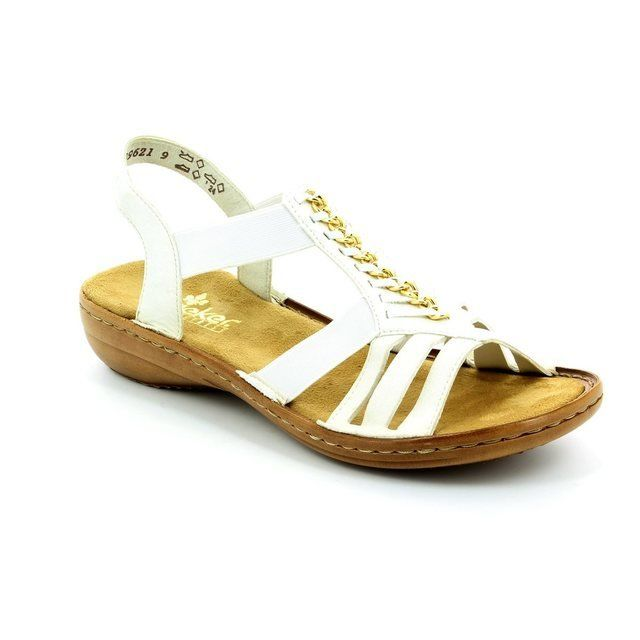 Rieker 60811-80 Off white sandals