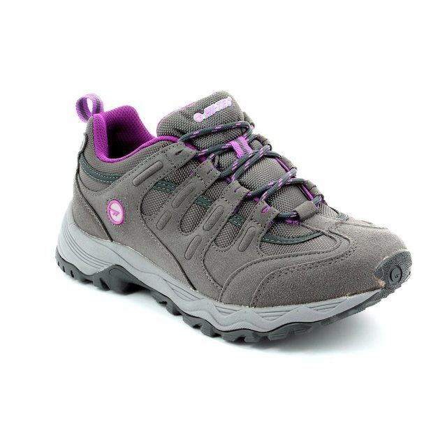 Hi-Tec L Quadra Trail 5048-51 Charcoal lacing shoes