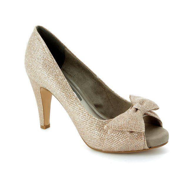 Tamaris 29300-970 Gold high-heeled shoes