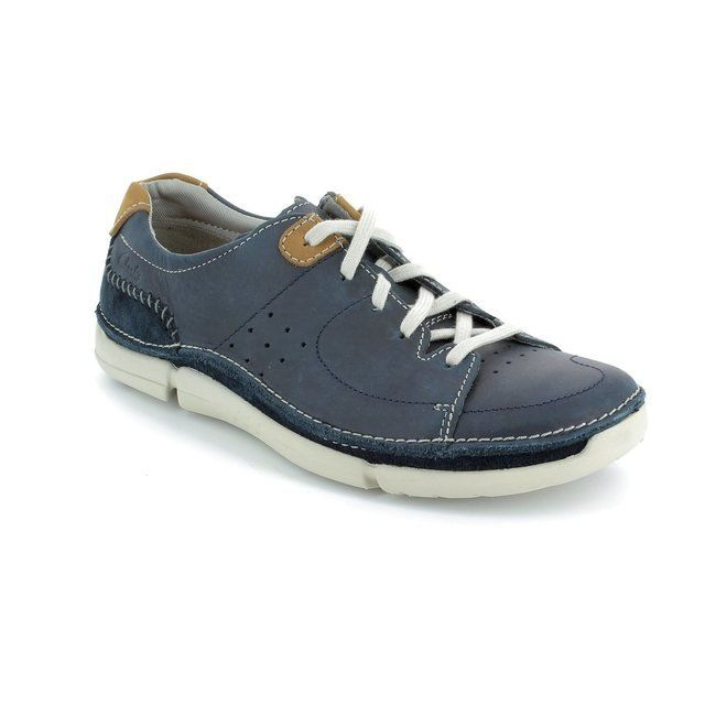 Clarks Trikeyon Mix Navy casual shoes