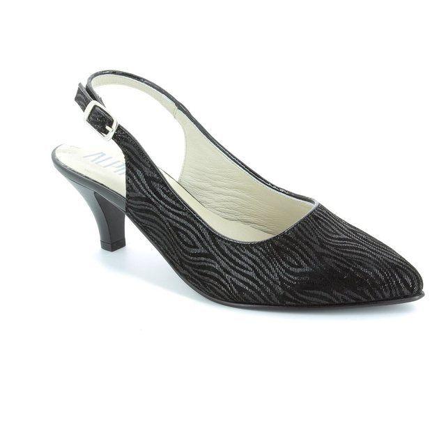 Alpina Latina 9I31-9 Black high-heeled shoes