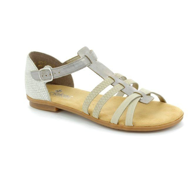Rieker 64288-40 Beige multi sandals