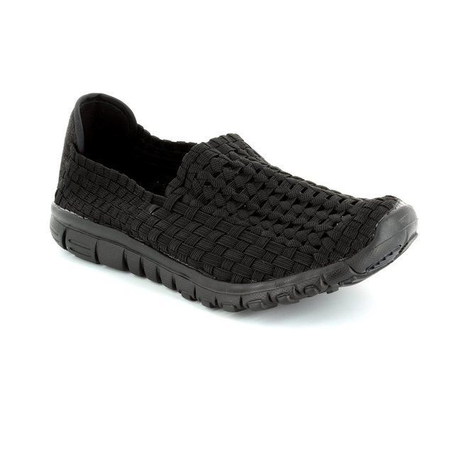 Heavenly Feet Trainers & Canvas - Black - 5001/30 STOMP