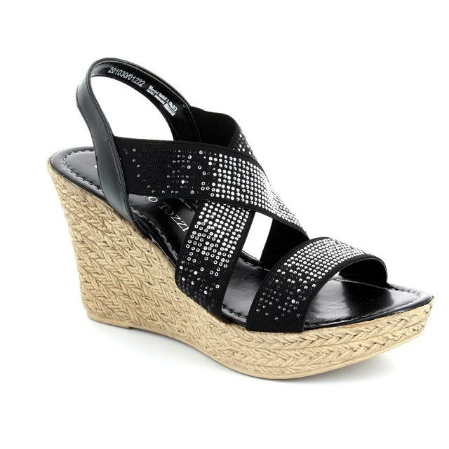 Marco Tozzi Oregano 61 28351-001 Black sandals