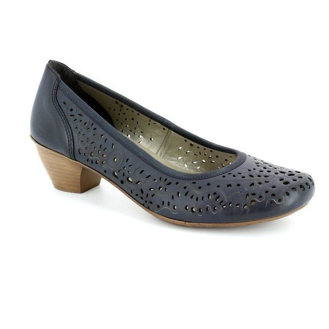 Rieker 47665-14 Navy heeled shoes