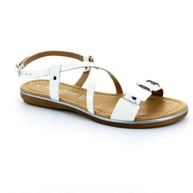 Marco Tozzi Vento 28135-123 White patent sandals