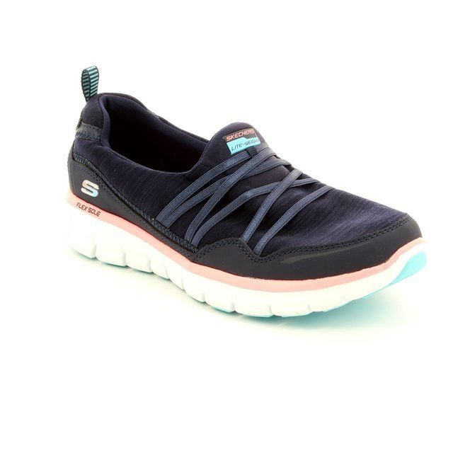 Skechers Trainers & Canvas - Navy-Pink - 12004/77 SCENE STEALER