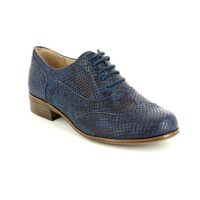 Clarks Everyday Shoes - Navy leather - 1539/54D HAMBLE OAK