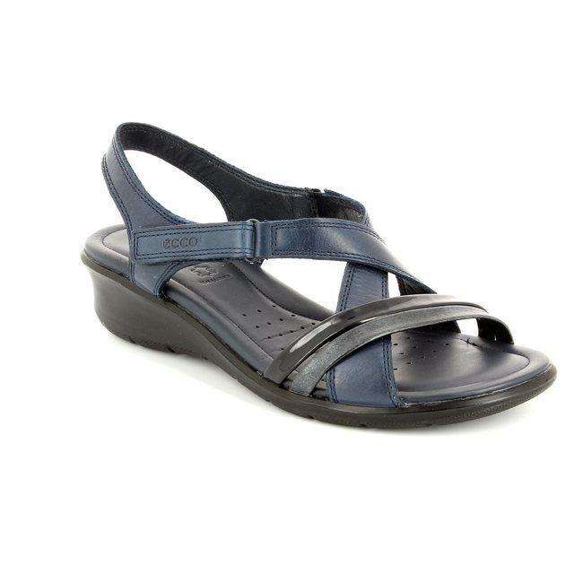 ECCO Felisan 216513-51769 Navy patent sandals