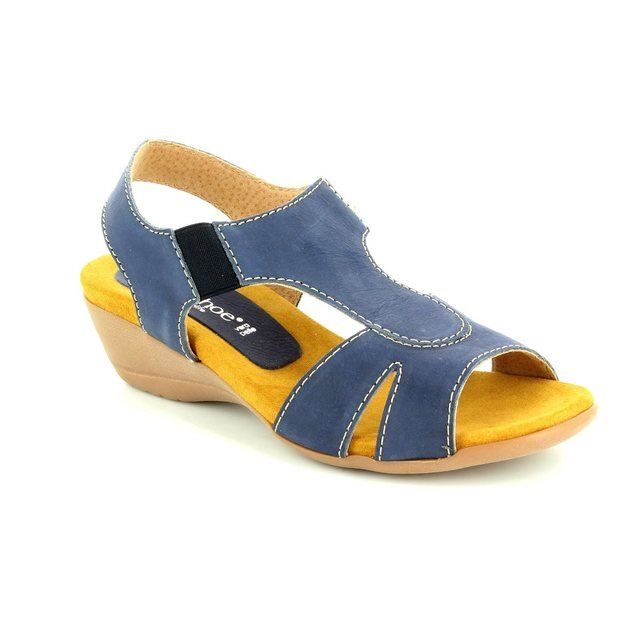 Relaxshoe Sandals - Navy nubuck - 104107/70 HONESTLY