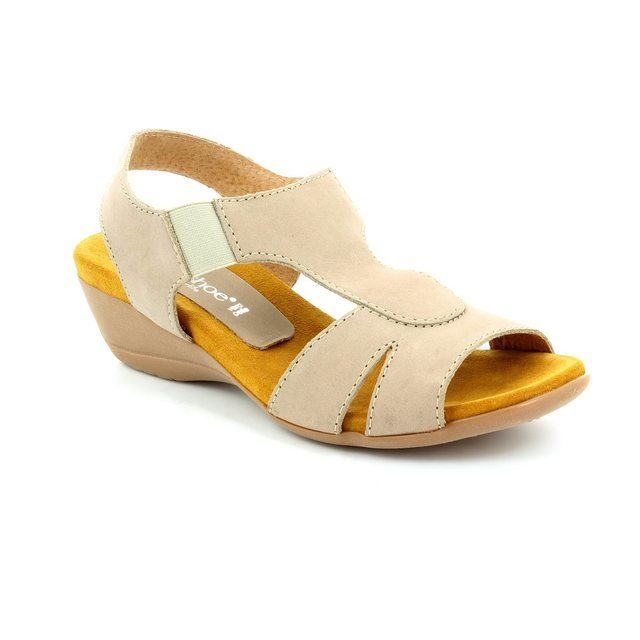Relaxshoe Honestly 104107-50 Taupe nubuck sandals