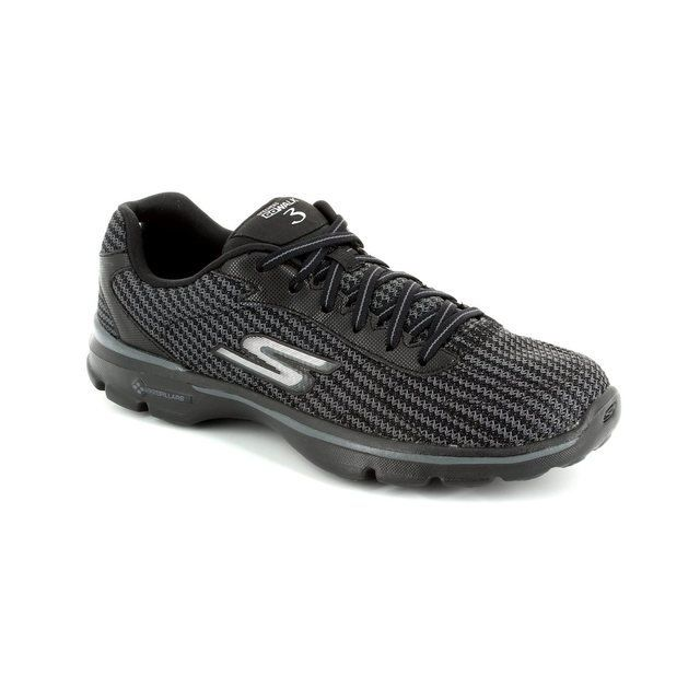 Skechers Go Walk 3 Lace 13981 BBK Black trainers
