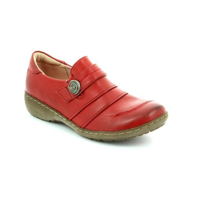 Heavenly Feet Everyday Shoes - Red - 5004/80 HOSTA 3