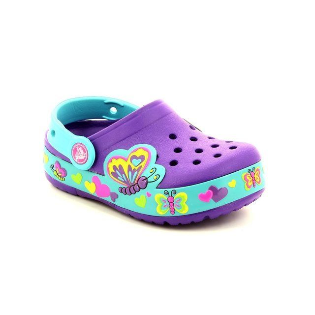 Crocs Girls Sandals - Purple multi - 15685/5B3 BUTTERFLY CLOG