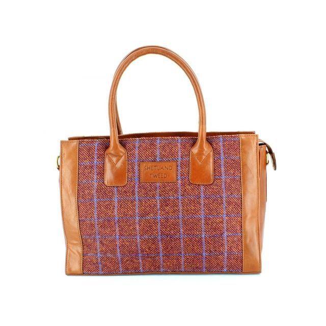 Shetland Tweed Lge Grab 0701-12 Tweed handbag