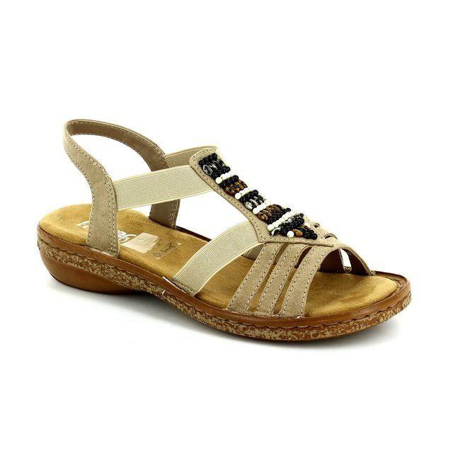 Rieker Sandals - Beige - 62851-60 REGIBEADS