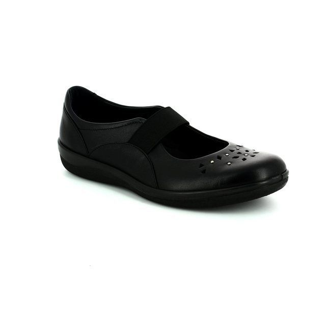 Padders Everyday Shoes - Black - 0229/10 FLARE