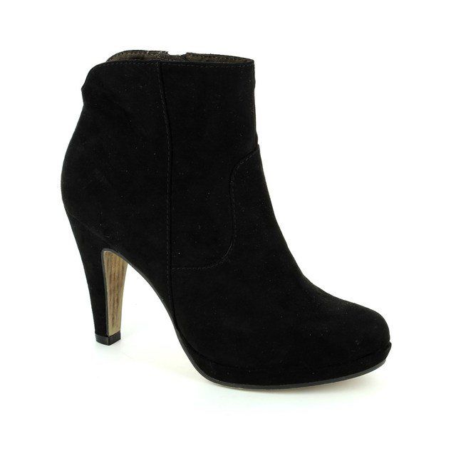Tamaris Boots - Short - Black suede or snake - 25348/001 TAGGIAP