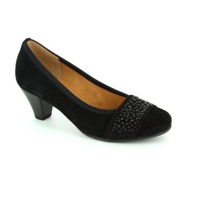 Gabor Wallace 65.482.17 Black nubuck heeled shoes