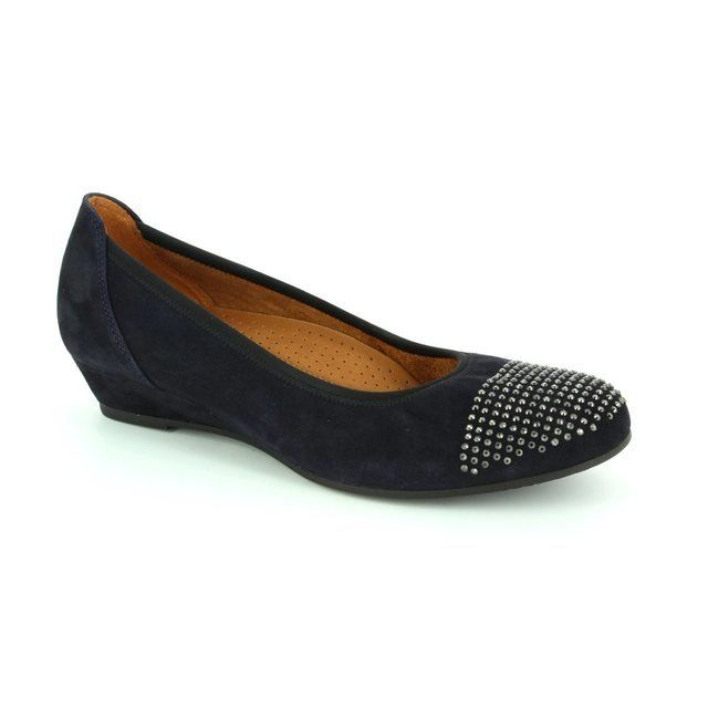 Gabor Mira 52.694.26 Navy suede pumps