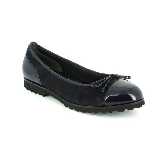 Gabor Temptation 53.100.16 Navy patent-suede pumps