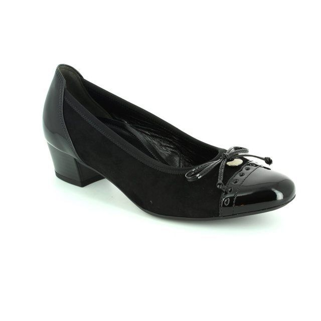 Gabor Islay 62.203.47 Black patent/suede heeled shoes