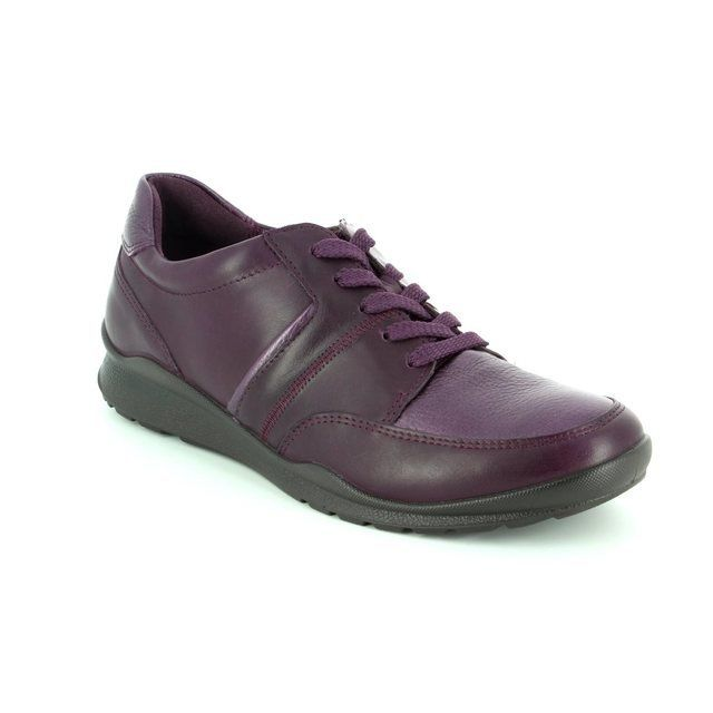 ECCO Mobile 62 215143-59968 Aubergine lacing shoes