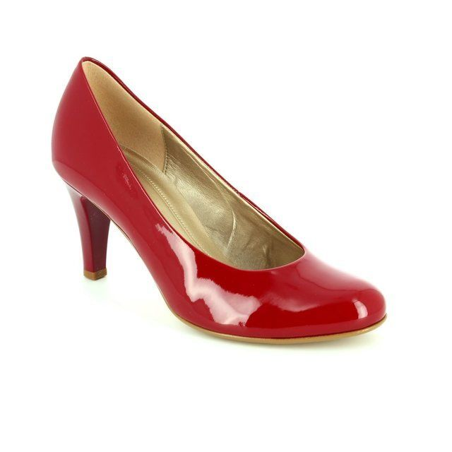 Gabor Lavender Opera 55.210.75 Red patent heeled shoes