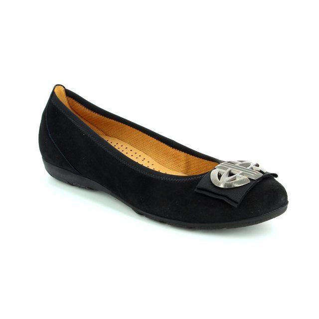 Gabor Invest 54.166.17 Black nubuck pumps