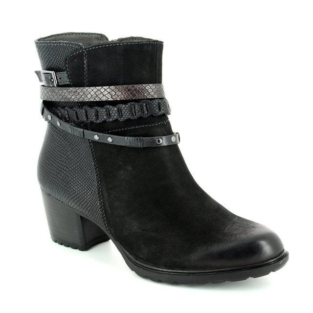 Tamaris Raquel 25322-098 Black multi ankle boots