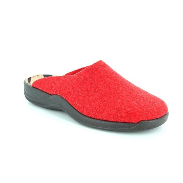 Rohde 2309-43 Red slipper mules