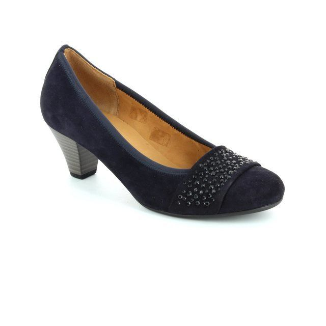 Gabor Heeled Shoes - Navy nubuck - 55.482.16 WALLACE