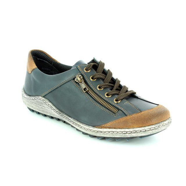 Remonte R1400-14 Navy multi lacing shoes