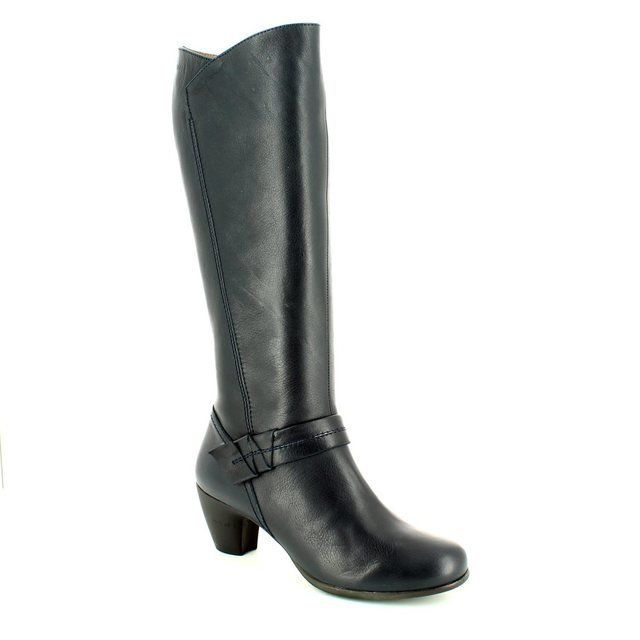 Wonders G3650-70 Navy long boots