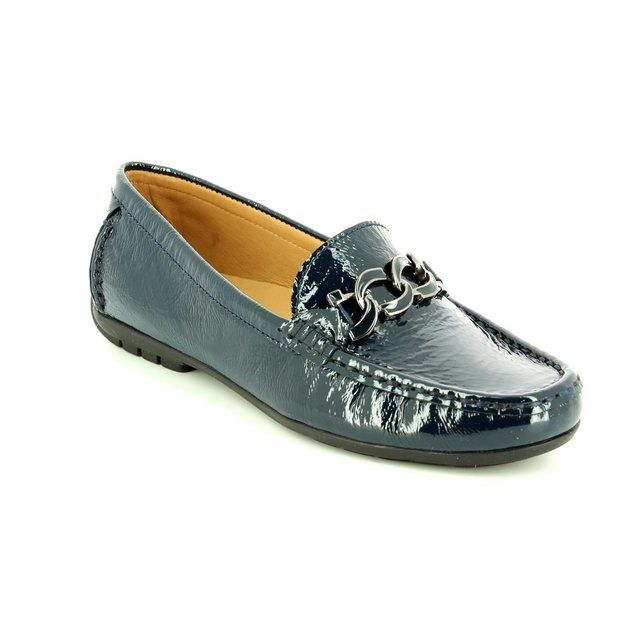Ambition Bloom 29144-70 Navy patent loafers