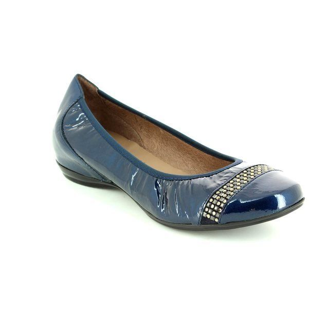 Wonders Pumps & Ballerinas - Navy patent - A3061/70 COCO